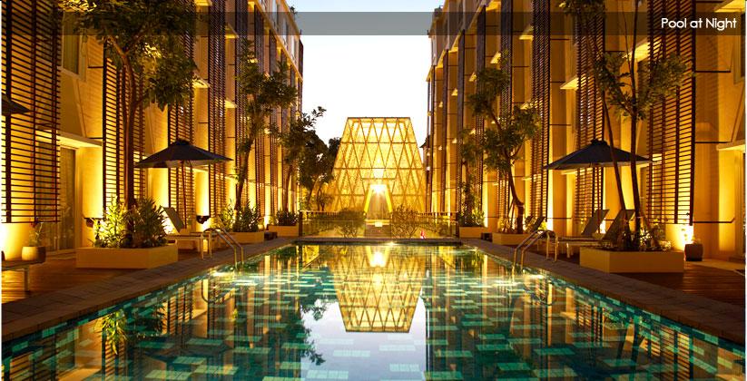 Ananta Legian Hotel Pool at Night