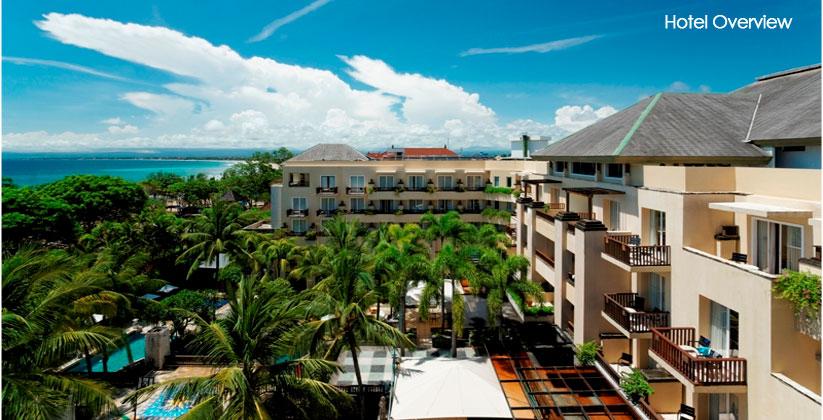 kuta paradiso hotel aerial view