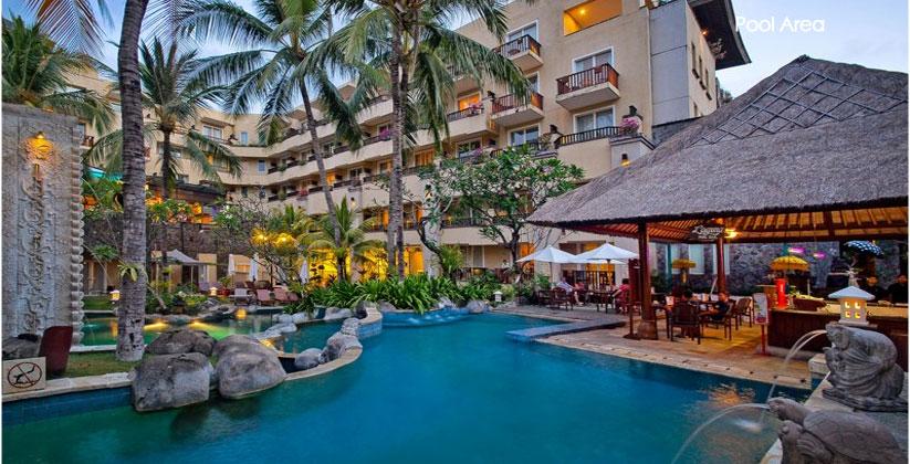 kuta paradiso hotel pool