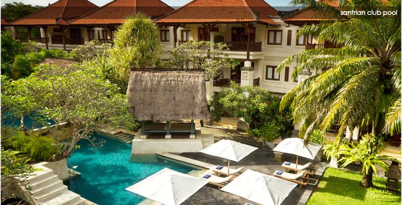 puri santrian hotel - santrian club pool
