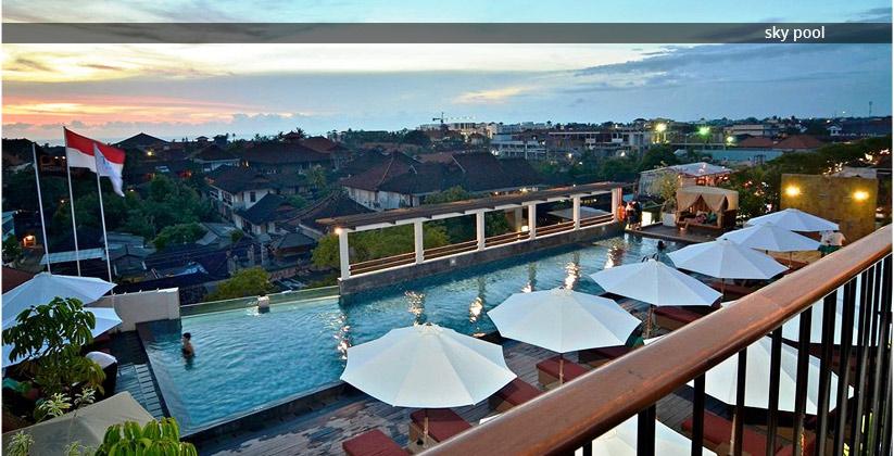 the 101 bali legian hotel - sky pool